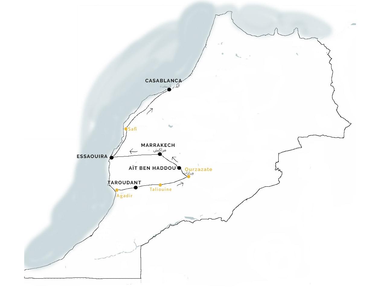 Marokkoe individuele reis met privéchauffeur