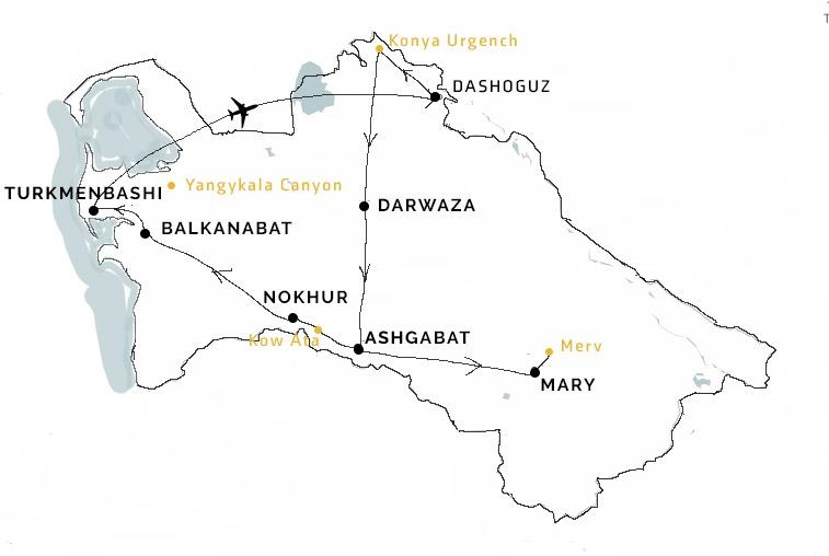reis op maat Turkmenistan