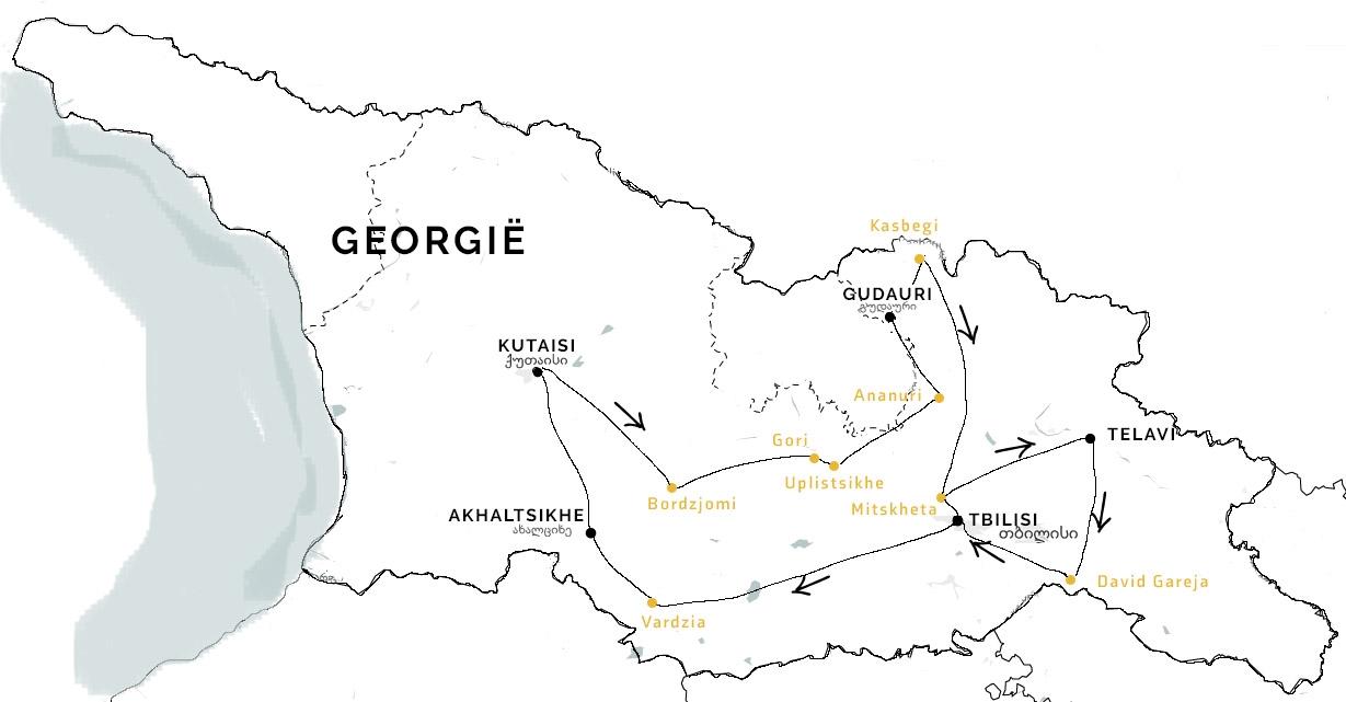 Route rondreis Georgie individueel